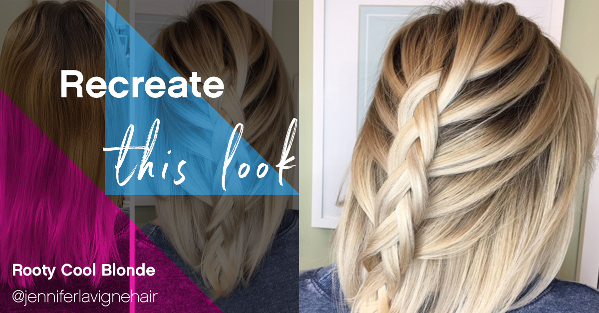 Recreate This Look Rooty Cool Blonde Sola Salon Studios
