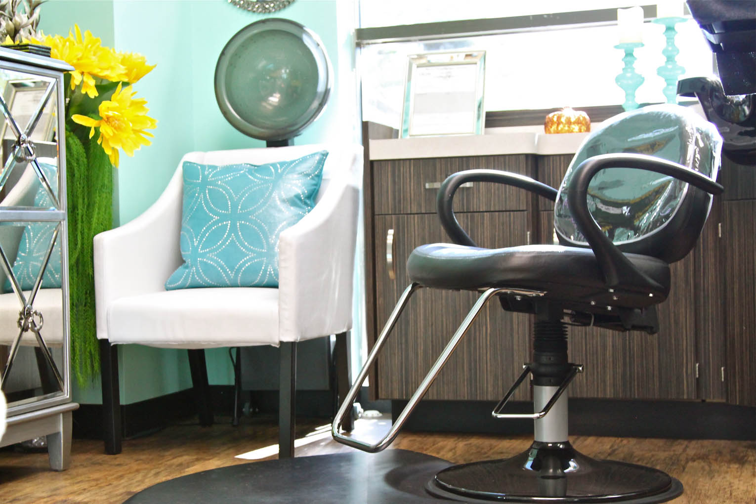 The interior of a salon studio