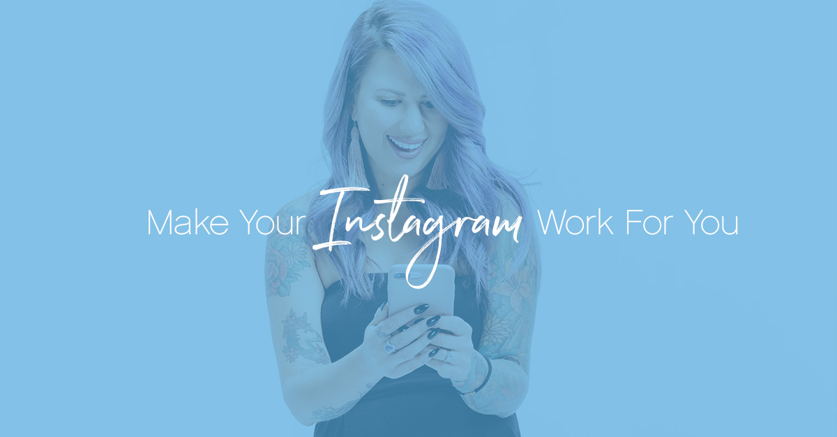 Make your instagram work dark blue