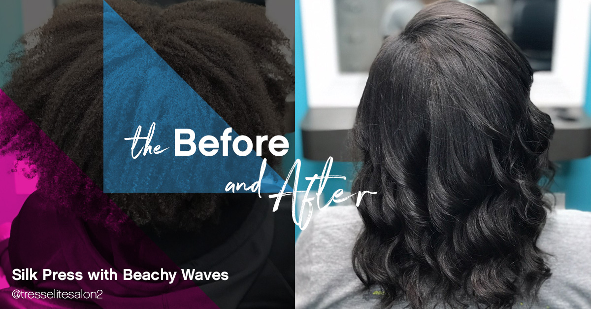 Recreate This Look Silk Press With Beachy Waves Sola Salon Studios