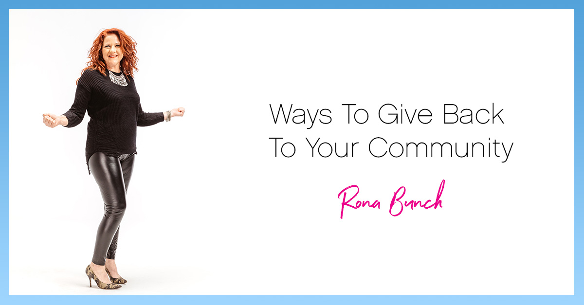 Ways to give back rona