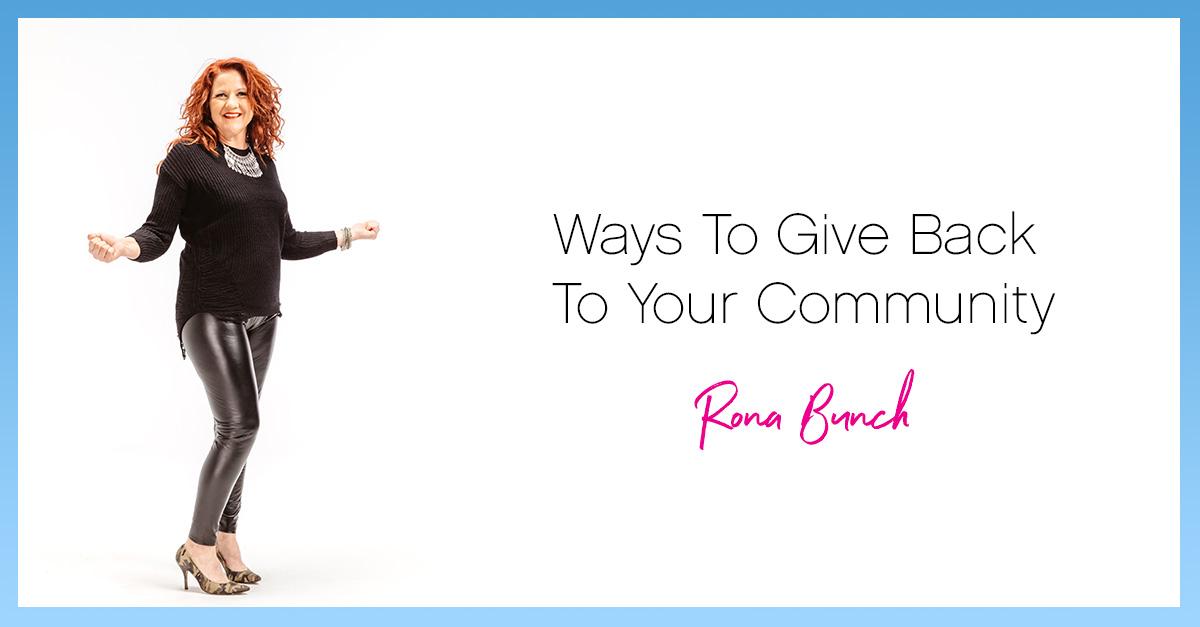 Ways to give back rona