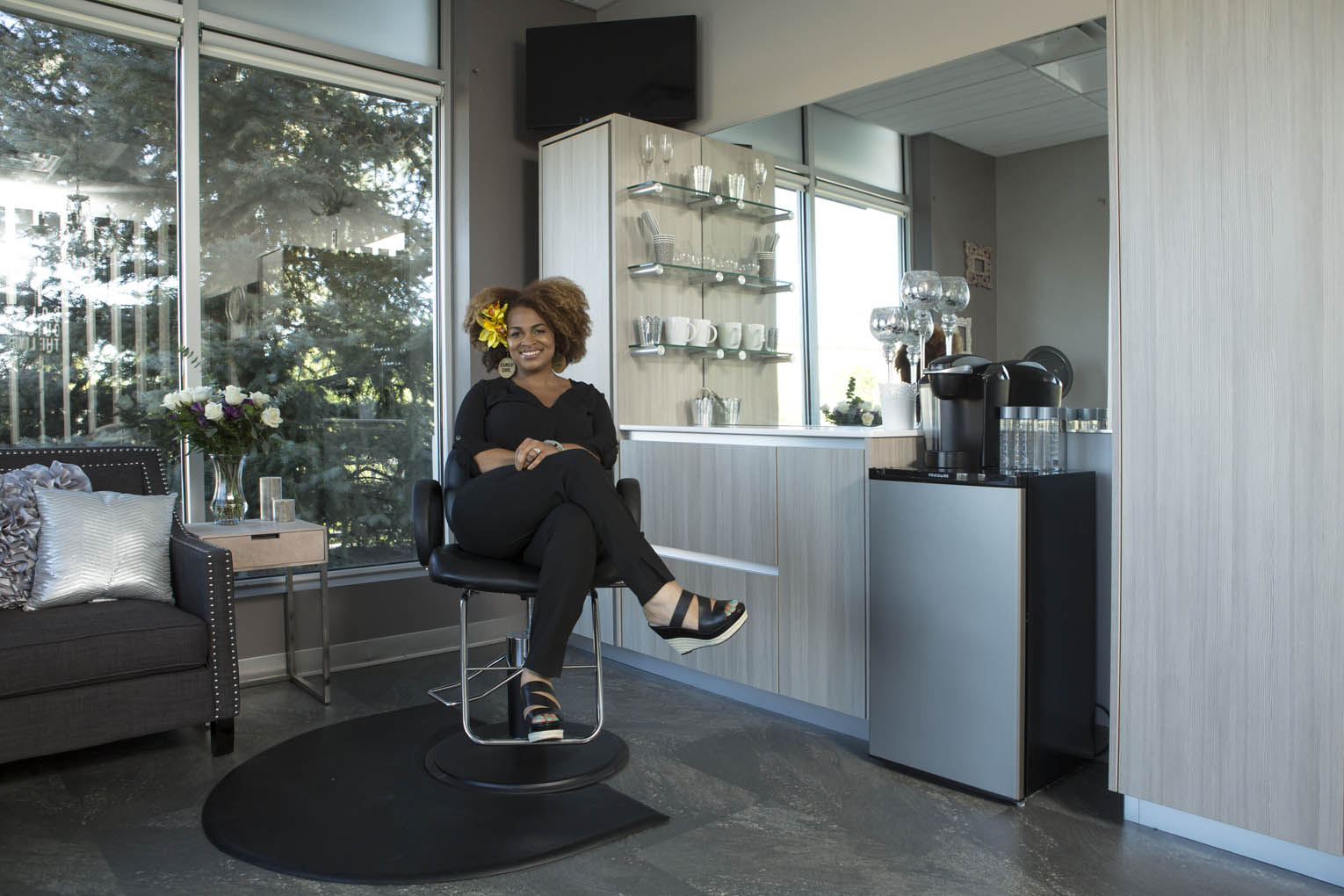 Interior of a salon studio