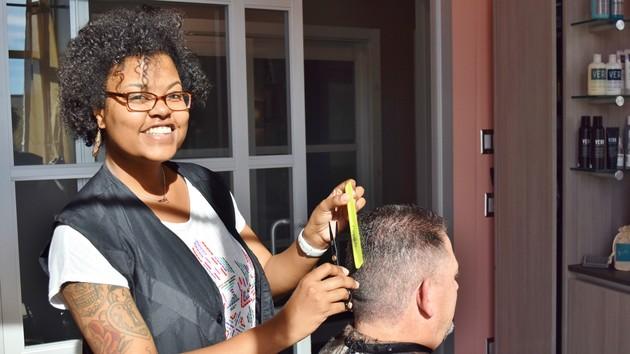 Jordan at Flourish Hair Studio, studio #25. Jordan came to Sola from Fantastic Sams