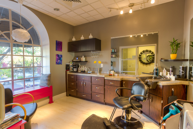 The inside of Sola Salon Studios in Cherry Creek, CO.