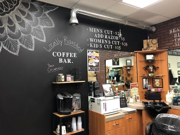 chalk wall, mens grooming, salon studio, salon suite