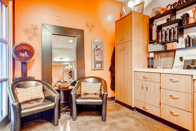 A beautiful studio in Sola Salon Studios in Littleton, Colorado.