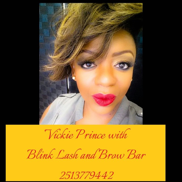 Vickie Prince with Blink Lash and Brow Bar at 2513779442