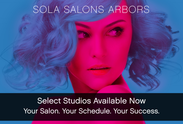 Exterior corner view of Sola Salons Arbors