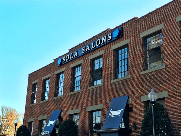 Exterior view of the Sola Salons in South End