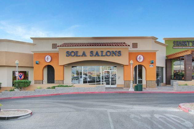 Sola Salon Studios is conveniently located in the Whole Foods shopping center across the street from Boca Park, at Las Vegas