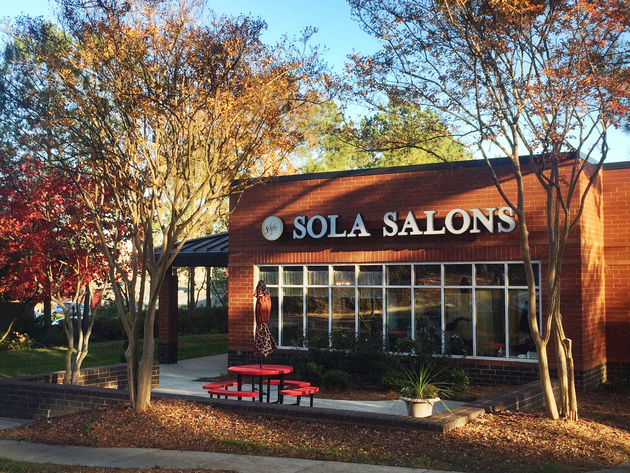 Exterior view of Sola Salons at Falls of Neuse in North Raleigh