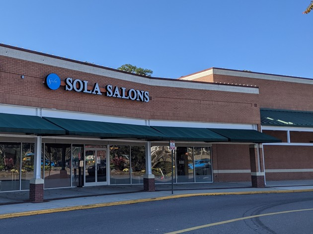 Street view of Sola Salons at Riverplace Shopping Center in Mandarin, FL