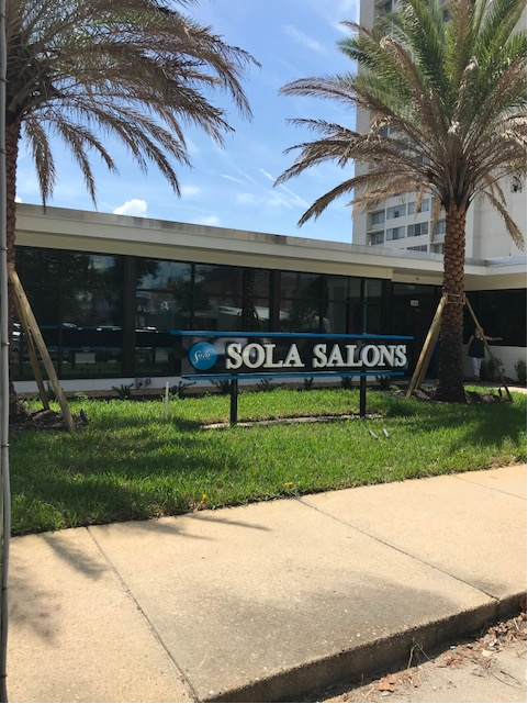 Exterior view of Sola Salon Studios Riverside location