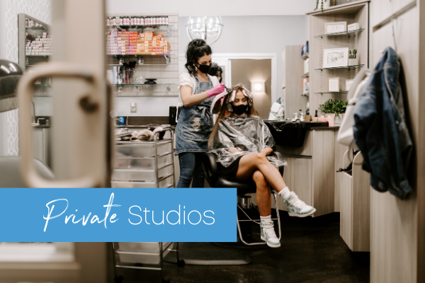 Sola Salon Studios, 1818 Washingon Ave. in Houston, features private studios with floor-to-ceiling walls and locking doors