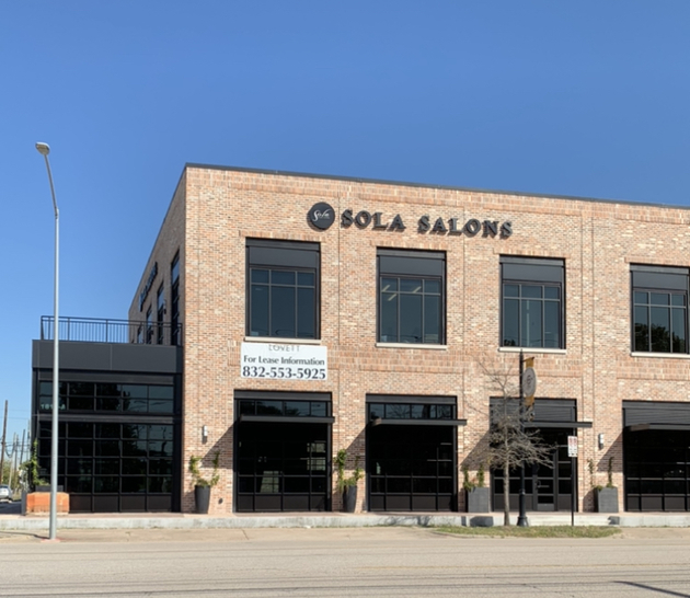 Sola Salon Studios, 1818 Washingon Ave. in Houston, is located in an exciting neighborhood, with restaurants, retail, art studios and more all within a short walk.