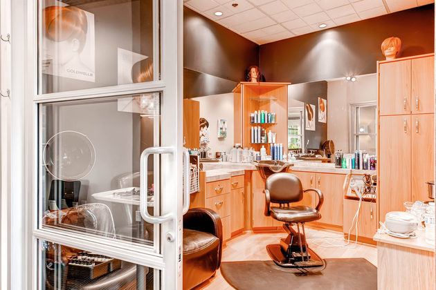 A beautiful studio in Sola Salon Studios in Centennial, Colorado.