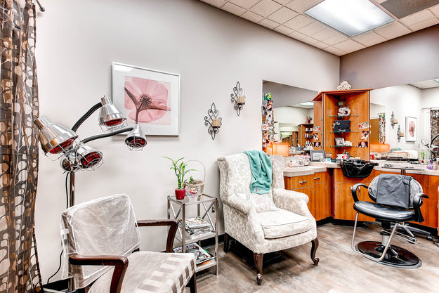 A beautiful studio inside of Sola Salon Studios Orchard Town Center in Westminster, Colorado.