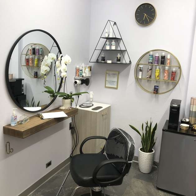 Our beautiful new salon studios and salon suites provide booth rental opportunities for hairstylists, hair stylists, estheticians, makeup artists, nail techs, massage therapists and botox professionals.