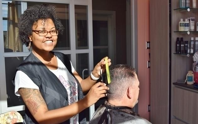 Jordan at Hair Flourish Studio, studio #25