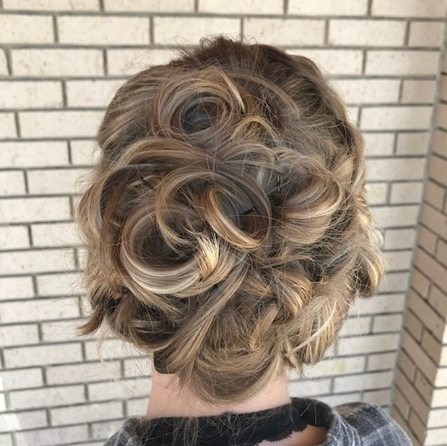 formal hair, up styling