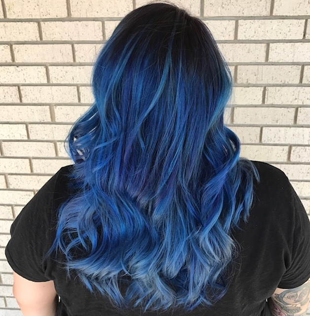 blue hair, hair color
