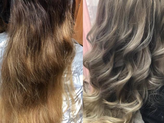 Hair highlights Bentonville AR, Hair salon, color correction, women